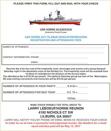 Reunion Registration & Order Form