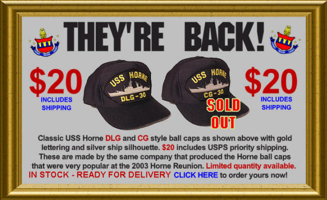 They're back! USS Horne Classic Style Ball Caps!